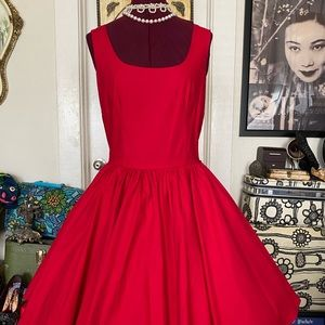 Ruby Red Lana Dress with fit and flare silhouette